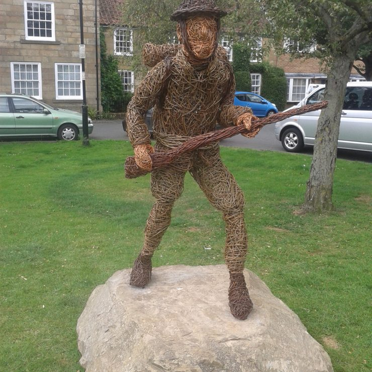 Willow sculpture of a soldier