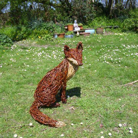 Willow sculpture of fox