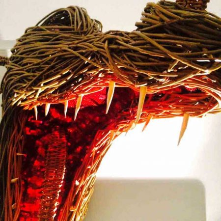 Willow sculpture of a dragon