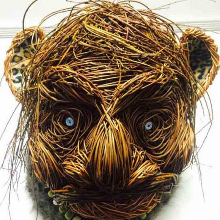 Willow sculpture of a ogre's head