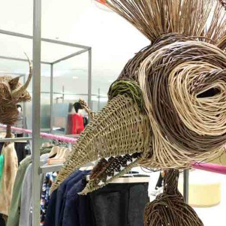 Willow sculpture of a eagle head