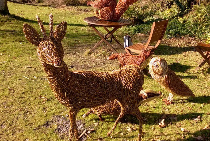 The willow sculptures in my garden