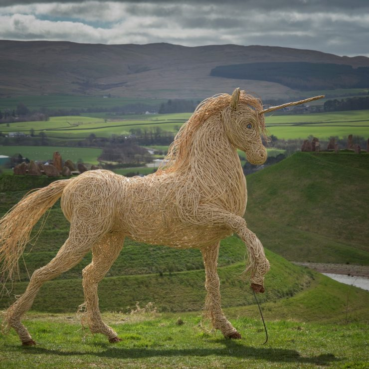 Unicorn at Crawick Multiverse, Dumphries Scotland