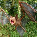 Willow sculpture of vampire bat