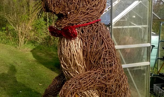 This Bunny was commissioned for someone living at Knightshayes Court,a national trust property. It stands at 6 ft  high.