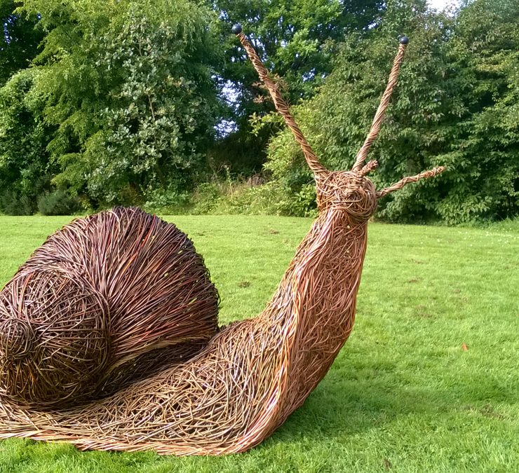 the snail on the lawn at KNightshayes
