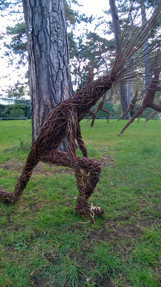 Kew gardens commission , Treelings Willow sculptures
