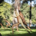 Willow sculpture of Kew gardens treelings