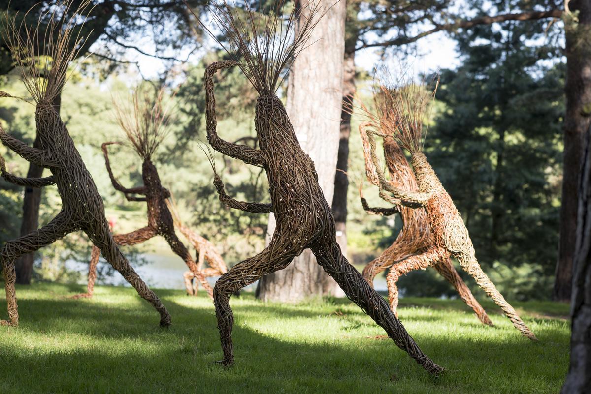Kew gardens commission , Treelings  Willow sculptures