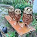 little owls willow sculpture.