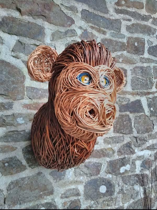 Willow monkey head.