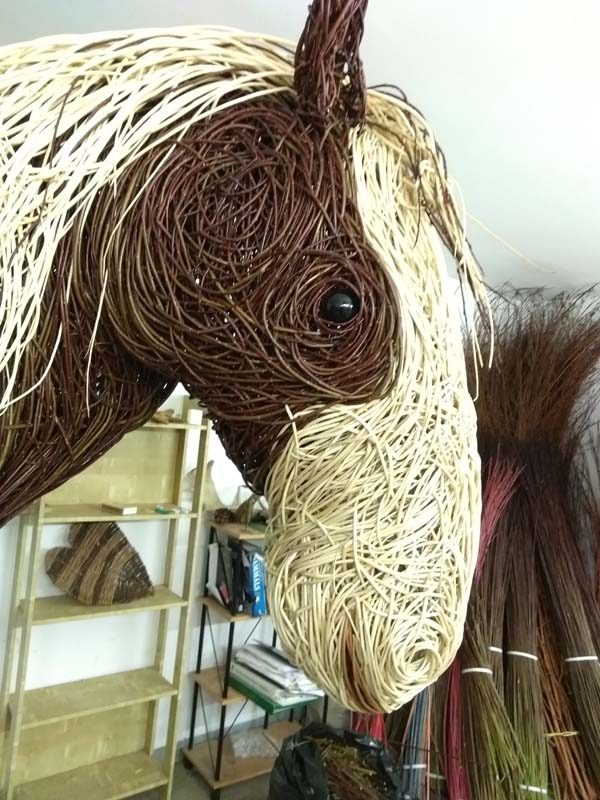 willow shire horse head